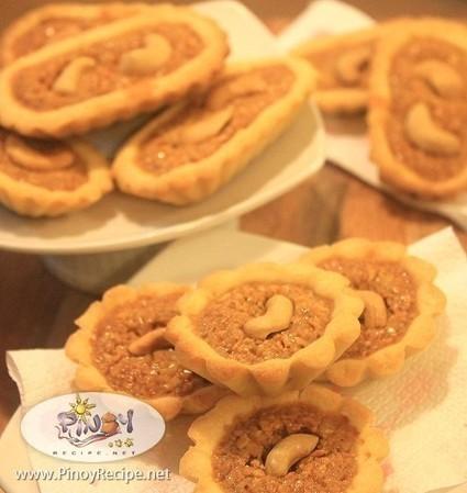 Cashew Boat Tart Recipe | Filipino Recipes Collection | Scoop.it