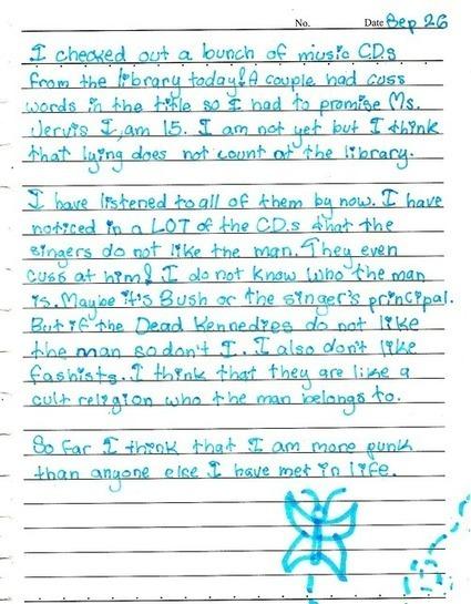 Confessions of a fifth grade punk | tunes | Scoop.it