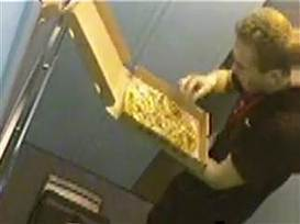 Pizza delivery guy caught on video eating toppings - TODAY.com   It's Show Prep for Radio   Scoop.it
