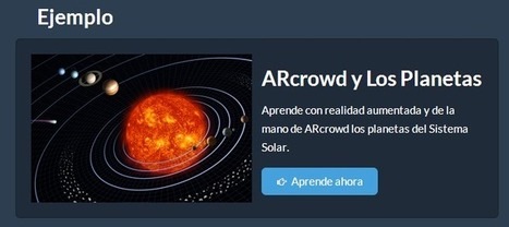 Crea y aprende con Laura: ARcrowd. Aplicación online para crear Realidad Aumentada | REALIDAD AUMENTADA Y ENSEÑANZA 3.0 - AUGMENTED REALITY AND TEACHING 3.0 | Scoop.it
