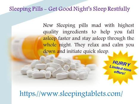 Sleeping Tablets – Seek Medical Attention Before You Use Them | Solution of Sleeping Disorder (Insomnia) | Scoop.it