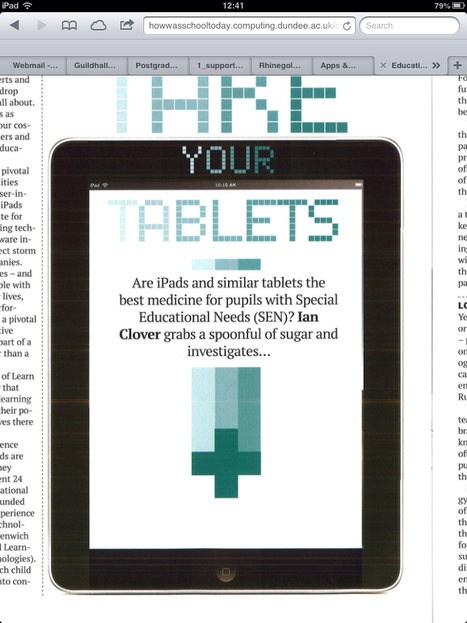 Take your tablets. | Personal Learning Devices in School | Scoop.it