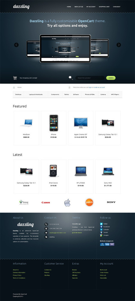 Dazzling, OpenCart Responsive Electronics Shopping Theme | Premium Download | Premium Opencart Themes | Scoop.it
