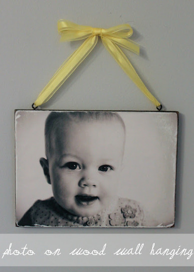 Photo on wood wall hanging | UpCycle | Scoop.it