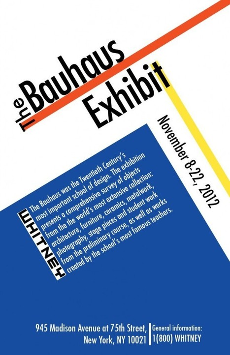 Bauhaus Poster | Diseño, bauhaus | Scoop.it