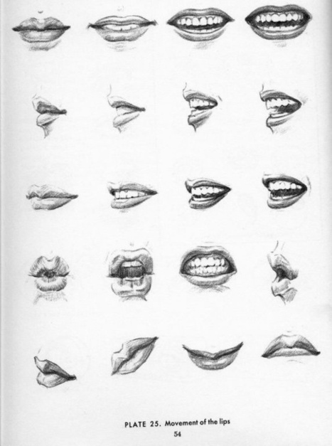 Lips and Mouth Drawing Reference | Drawing References and Resources | Scoop.it