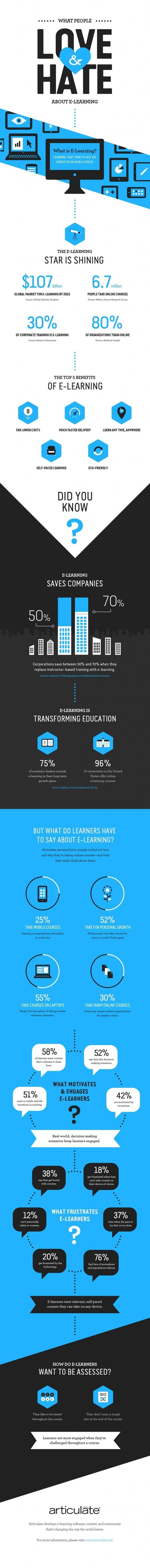 What People Love and Hate about eLearning Infographic | Free Education | Scoop.it