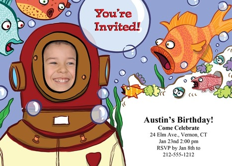 We'd go to the deepest depths of the ocean for this party! | kids birthday invites | Scoop.it