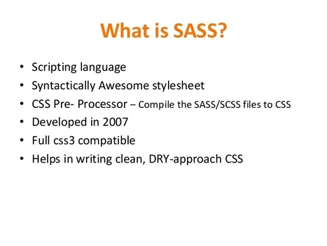 SASS/SCSS Tutorial for Beginners - JavaTpoint | JavaTpoint | Scoop.it