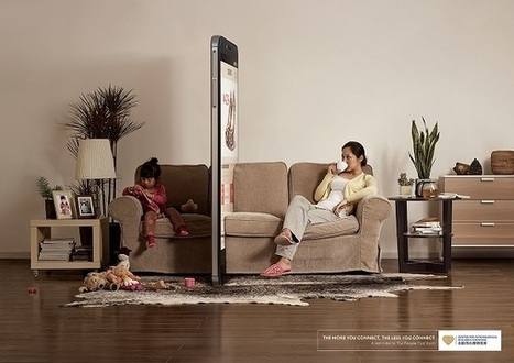 Clever Ads Show How Smartphones Are 'Blocking' Real, Human Interactions // By John Yong on DesignTAXI.com | Technology in Art And Education | Scoop.it