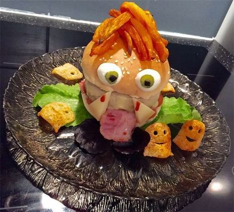 Recette Burger Halloween | BABY FOOD WORLD | Scoop.it
