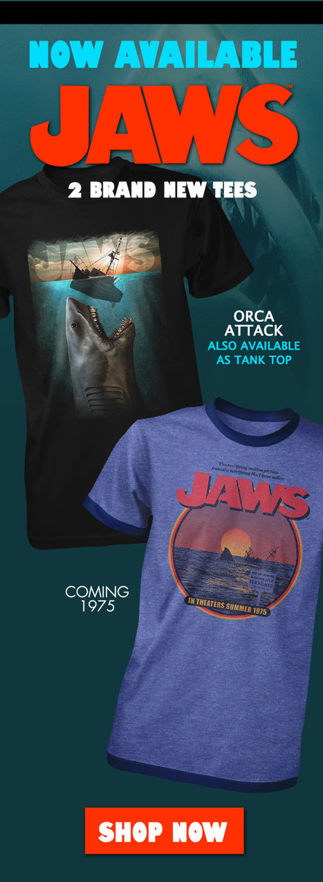 The Noose: JAWS T-Shirts from Fright-Rags take you back to 1975 - The Moon is a Dead World: horror reviews | Horrorshare | Scoop.it