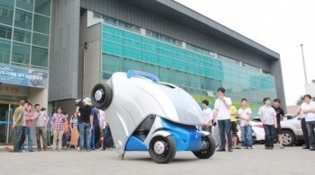 South Korea just made an electric car that folds itself in half | Technology Updates | Scoop.it