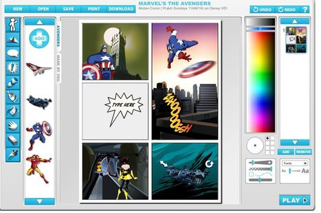 Marvel The Avengers Motion Comic | Write comic strips and books | just com | Scoop.it