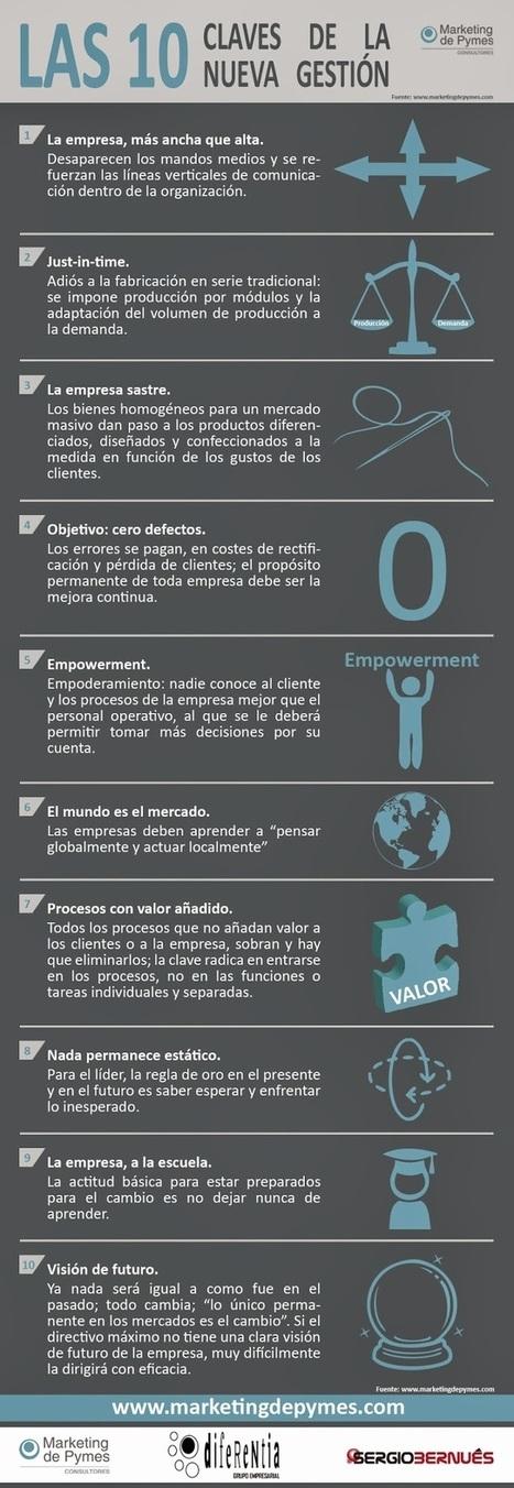 Las 10 Claves de la Nueva Gestión (infografía) | LOS 40 SON NUESTROS | Scoop.it