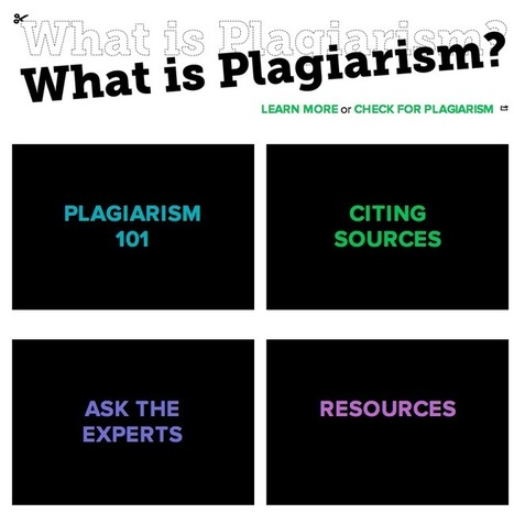 Great Resources to Teach Students about Plagiarism and Citation Styles | EduInfo | Scoop.it