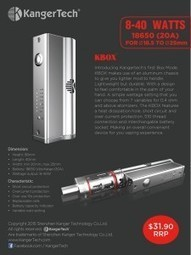 Kangertech's KBOX announced and set to dethrone cheap box mods | The Steaming Wick | Best android apps on the market | Scoop.it