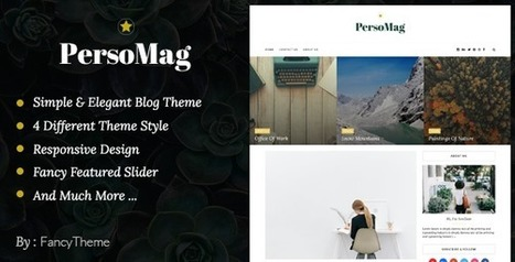 PersoMag - Clean & Personal Blogger Theme | Blogger themes | Scoop.it