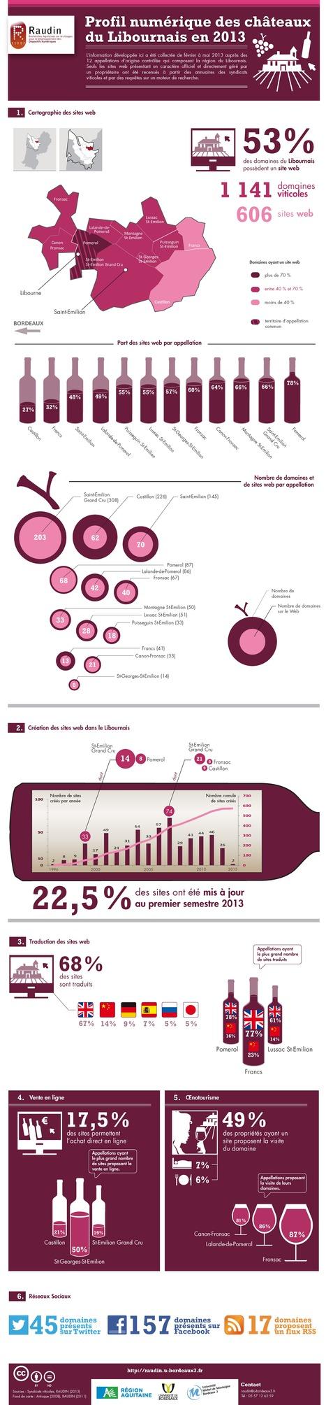 Profil numérique des châteaux du Libournais en 2013 | Tag 2D & Vins | Scoop.it