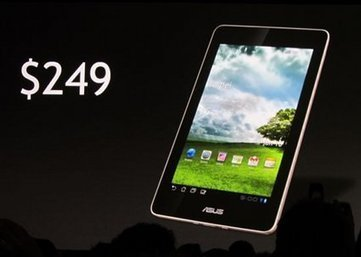 Asus Unveils 249 USD Nvidia Tegra 3 Android 4.0 Tablet | Embedded Systems News | Scoop.it