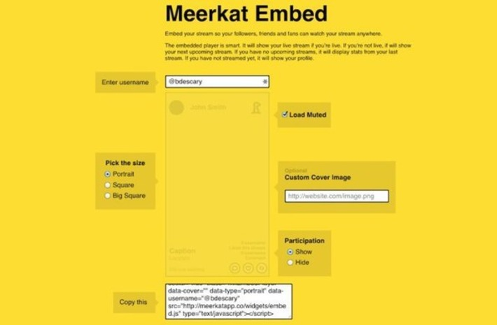 Meerkat : intégrez vos diffusions sur votre site Web   TIC et TICE mais... en français   Scoop.it
