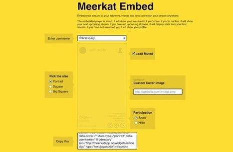Meerkat : intégrez vos diffusions sur votre site Web | Geeks | Scoop.it