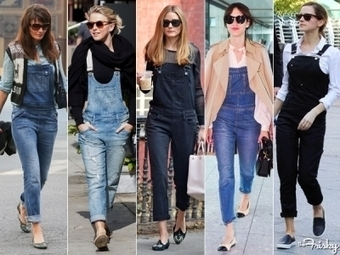 Celeb Street Style Spotlight: All Over Overalls! | Fashion Weeks & Street Style | Scoop.it