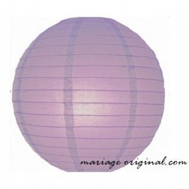 Lanterne en papier Lavande 30cm - MARIAGE ORIGINAL   boules japonaises   Scoop.it