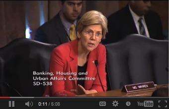 Elizabeth Warren: On The Attack Against Federal Banking Regulators (VIDEO) | Lefty Politics | Scoop.it