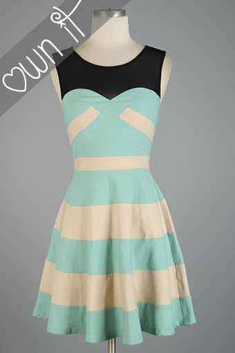 Candy Girl Striped Dress in Mint | Rent The Dress | Bridesmaid Dresses | Scoop.it