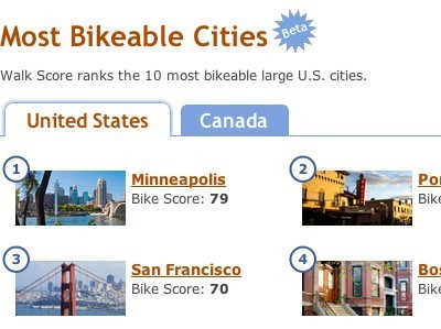 After Walkability and Transit Quality, Walk Score Now Ranks Cities by Bikeability | Vertical Farm - Food Factory | Scoop.it
