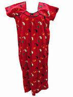 Boho Fashion Long Maxi Dress Red Paisley Print Long Cotton Sleepwear | caftan Kaftan | Scoop.it