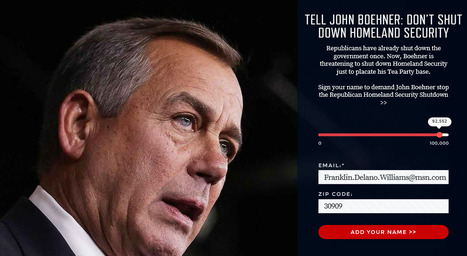 Tell John Boehner: Take Government Shutdown Off the Table | DCCC.org | 02/19/15 | Politics From My Point Of View | Scoop.it