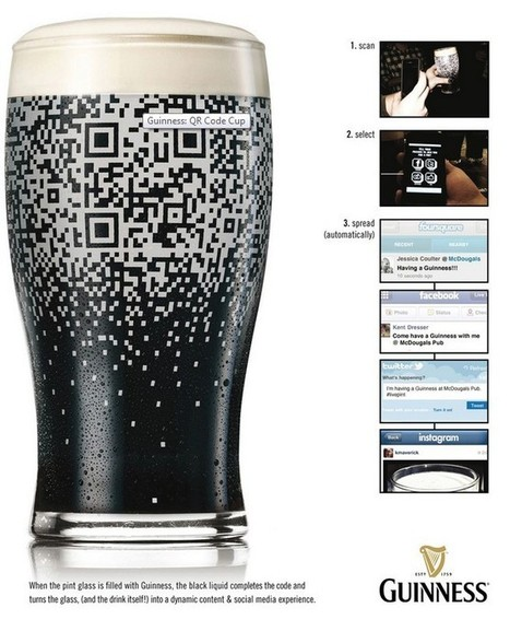 Guinness QR Code Pub Beer Glass | AtDotCom Social media | Scoop.it