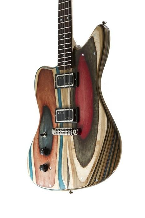 Il recycle les planches de skateboards en guitares uniques | Mr Mondialisation | 694028 | Scoop.it