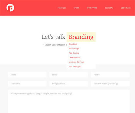 Examples of Well Designed Contact Pages | Inspiration | Moodboard | Scoop.it