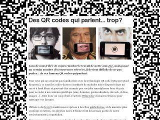 Des QR codes qui parlent... trop?   Entrepreneurs du Web   Scoop.it