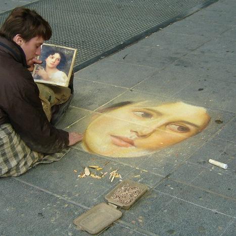 Retratos Impresionantes dibujados sobre las calles de París por François Pelletier   Vale la pena Ver o Leer.   Scoop.it