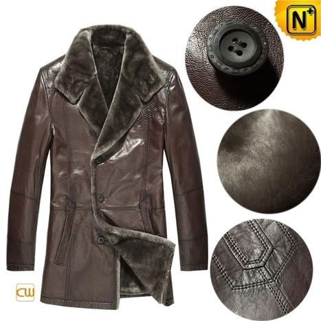 Mens Leather Coat Fur Lining CW868829 | Men's | Scoop.it