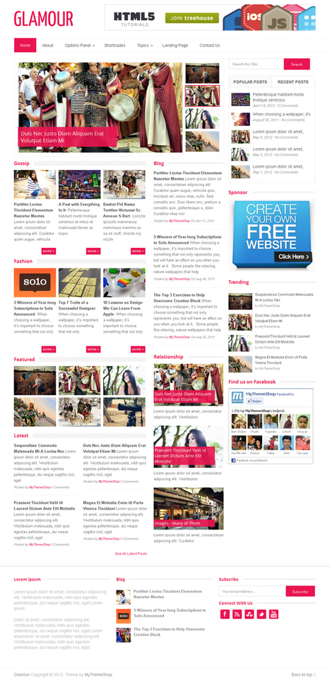 Glamour Premium WordPress Theme by MyThemeShop | WP Download | Wordpress | Scoop.it