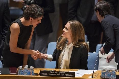 Contre le viol de guerre. Najat Vallaud-Belkacem et Angelina Jolie, la rencontre - Paris Match   Najat Vallaud-Belkacem   Scoop.it