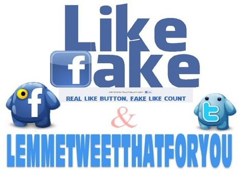 Fake your LIKES and TWEETS ~ Extreme Social Media | DISCLAIMER : THIS WEBSITE IS REAL, BUT IT'S LIKE TOTALLY FAKE!! | Scoop.it