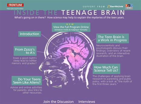 Inside The Teenage Brain | FRONTLINE | PBS (Article & Video) | My Daily Pages | Scoop.it