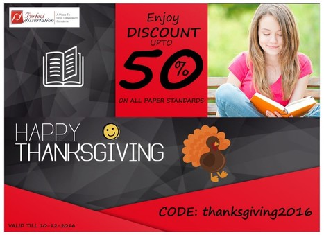 """""""HappyThanksGiving ! Enjoy Discount upto 50% on All Paper Standards"""" 