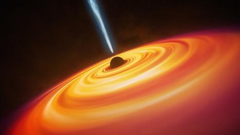 Découverte d'un trou noir de 12 milliards de masses solaires distant de 12,9 milliards d'années-lumière | Technology | Scoop.it