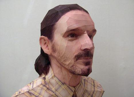 Les Portraits 3D Réalistes en Papier de Bert Simons   paper-toy   Scoop.it