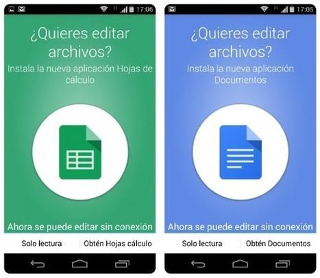 La nueva versión de Google Drive para móviles ya no permite editar documentos | Google tresnak | Scoop.it