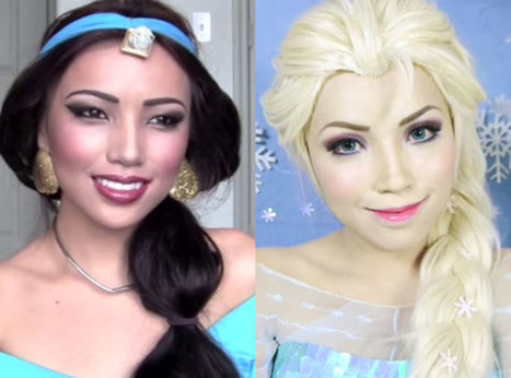 This Woman Can Turn Herself Into any Disney Princess Using Only Makeup—Watch the Incredible Transformations! | Make-Up Articles | Scoop.it