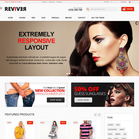 Reviver PrestaShop Theme | Prestashop Theme Download | New Topic | Scoop.it
