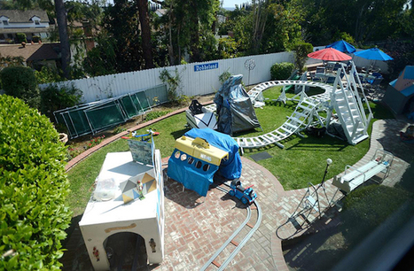 Engineer Grandfather Turns His Backyard Into an Amusement Park for His Grandkids | Le It e Amo ✪ | Scoop.it